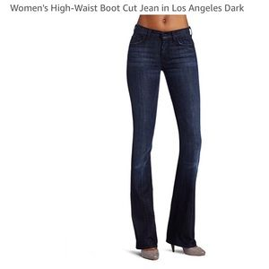 High Waist Boot Cute Jeans in Los Angeles Dark